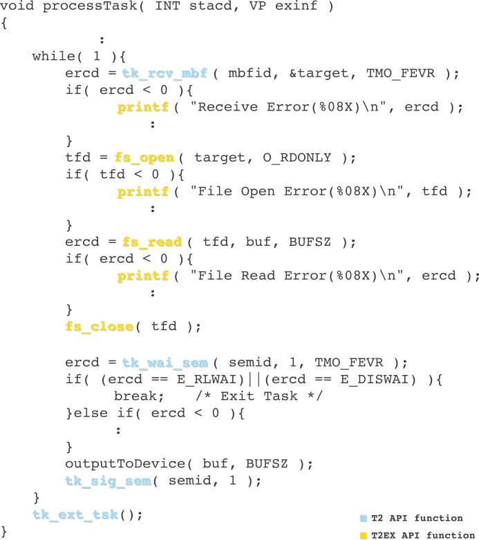 T-Kernel 2.0 Extension (T2EX)
